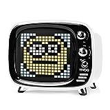 Divoom Tivoo ポータブルBluetoothスピーカー スマートアラーム/かわいいピクセルアート/ディスプレイ付き/DSPプロセッサ/TFカード対応/多機能 (ホワイト)