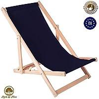 Amazinggirl Tumbona-s Jardin Exterior - sillas de Playa Plegables tumbonas de Madera amacas de Jardin Tumbona Silla Plegable