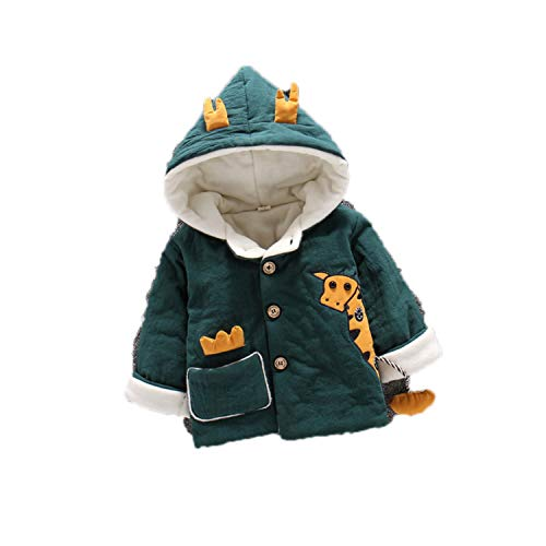 Infant Coat Autumn Winter Baby Jackets For Baby Boys Jacket Kids Warm Outerwear Coats Green 12M