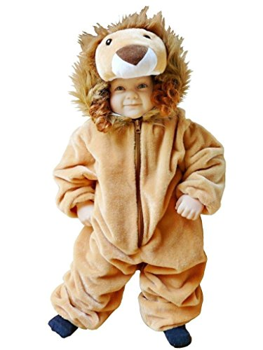 Seruna F57 Taglia 9-12M (74-80cm) Leone Costume per Neonati e Bambini, indossabile Comodamente sui Vestiti Normali