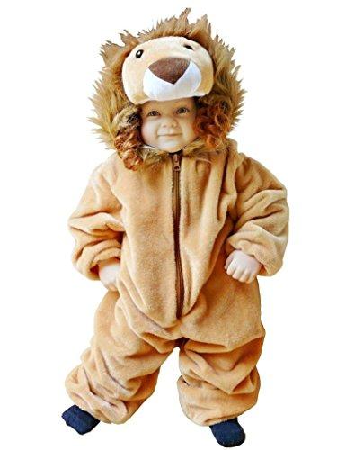Löwen-Kostüm, F57 Gr. 74-80, für Klein-Kinder, Babies, Löwe Kostüme für Fasching Karneval, Kleinkinder-Karnevalskostüme, Kinder-Faschingskostüme, Geburtstags-Geschenk Weihnachts-Geschenk