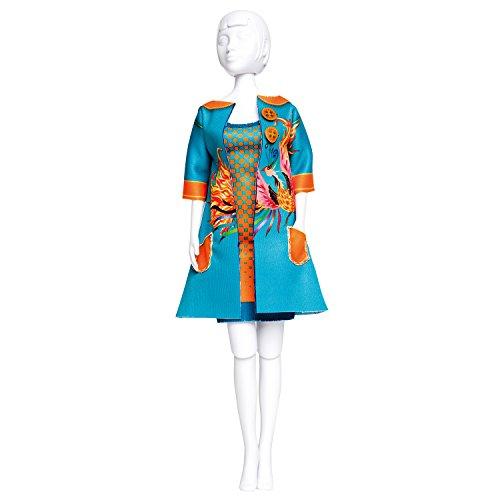 Vervaco Betty Phoenix Kleid Ihre Puppe Outfit-Set, Mehrfarbig