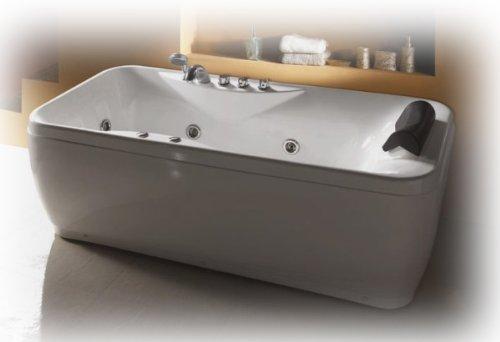 Vasca idromassaggio 175 x 83 cm display digitale, rubinetteria e cuscino inclusi, seduta ergonomica