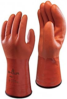 Showa 460 Fully Coated Insulated PVC Chemical Resistant Glove, Large (Pack of 12 Pairs)