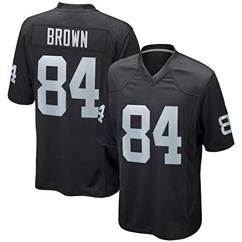 HYQ Los Hombres de fútbol Bordado Jersey Oakland Raiders, NFL 4# 24# 84# Jersey Logotipo V-Cuello Corto Traje de fútbol Malla Camiseta,Black 84,M=50