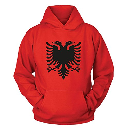 Shirtblaster Albanien Kapuzenpullover Size S