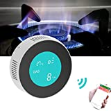 WiFi Gas Detector Alarm with Temperature Display, Natural Gas/LNG/Methane Gas Leak Alarm