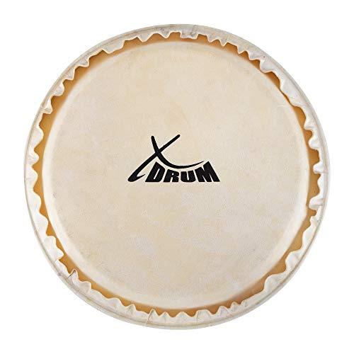 "XDrum Bongo Fell 7,5"" - Natur-Fell für Bongo-Trommel - Durchmesser: 7,5 Zoll (ca. 190 mm) - Natur"