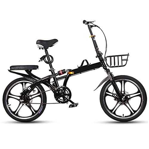 TXOTN 16/20 Pulgadas Bicicleta Plegable Unisex para Adulto Bici Plegable, Doble Amortiguación Delantera Y Trasera, Rodamiento Suave, Frenos De Disco Dobles Delanteros Y Traseros