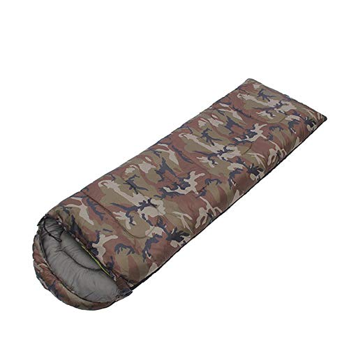 Sac de couchage Camouflage Léger Camping Randonnées momie Temps Froid Compact