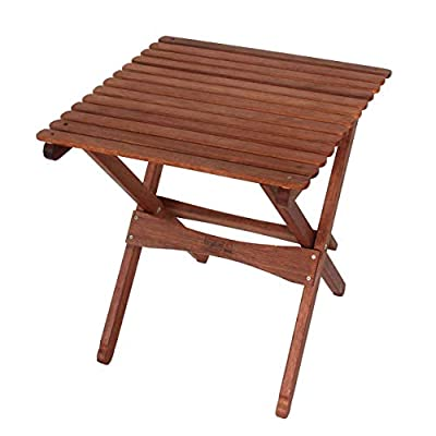 BYER OF MAINE Pangean Folding Table, Folding Wood Table, Easy to Fold and Carry, Perfect for Camping and Tailgating, Matches All Furniture in The Pangean Line, Single