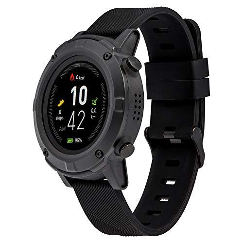 MEDION S2400 GPS Sportuhr (1,3 Zoll Farbdisplay, Herzfrequnezmesser, Multi Sport Modi, Staub und Wasserschutz IP68)