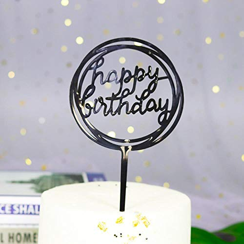 HPPL taart insert plastic bakken decoratie partij dessert tafel dress up gelukkig verjaardagskaart insert taart decoreren plugin
