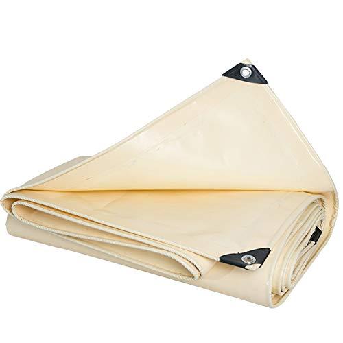 WZNING Außen verdicken Persenning wasserdichte Sonnenschutz Shade Covering Der Regen Plastikplane Canopy LKW Leinwand Langlebig und schützend (Color : BEIGE, Size : 2MX3M)