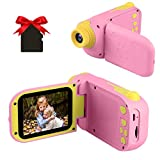 GKTZ Video Camera Camcorder Digital for Kids, Children's Toys DV Cameras Recorder with 2.4 Inch HD Screen1080P for Age 3-10 Year Old Boys Girls Birthday Gifts Including 32GB SD Card (Pink)