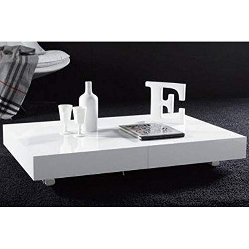 Mesa Baja elevable Extensible Block Design Color Blanco Brillante ...