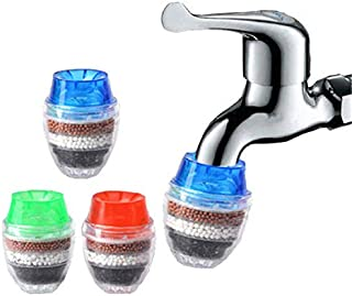 Goolsky 3PCS Faucet Water Filter Kitchen Tap Purifier Filtration Activated Carbon Removes Chlorine Fluoride Heavy Metals H...