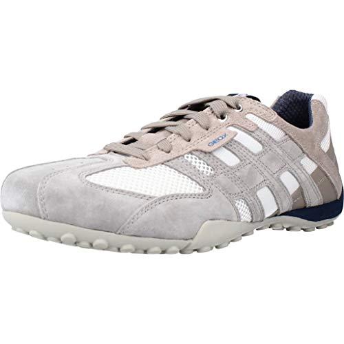 Geox Herren Uomo Snake K Sneaker, Grau (Ice/whitec0463), 43 EU