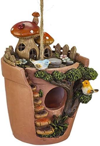VP Home Flowerpot Bird House with Decorative Hand Painted Mushroom Garden product image
