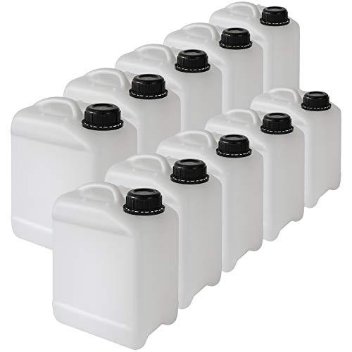 10 x Wasserkanister Kanister Wassertank HDPE - tragbar, erhältlich in 3 verschiedenen Größen, Volumen:3 Liter