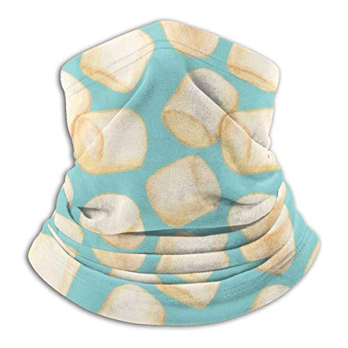 Halswärmer Marshmallows Blue Outdoors Sun Protection Sports Wind Bandanas Motorcycling Multifunctional Headwear Dust Neck Gaiter Printed Festivals for Men Woment