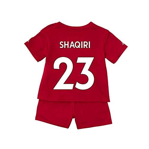 W&F SHAQIRI # 23 Fußball-Trainingsanzug - Jugend Kinder Erwachsene Fußball-Trikots Trainingsanzüge Shorts Set (Color : Red, Size : 100)