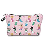 Cosmetic Bag Cute Makeup Bag for Travel Pouch Gifts Purse for Women Adorable Roomy Fun Travel Handbag (cat-01)