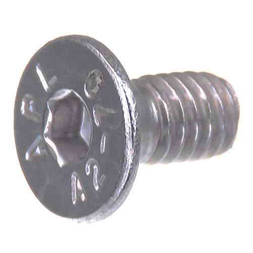 Tornillo avellanado SECCARO M4 x 8 mm, acero inoxidable V2A VA A2, DIN 7991 / ISO 10642, hexágono interior, 20 piezas