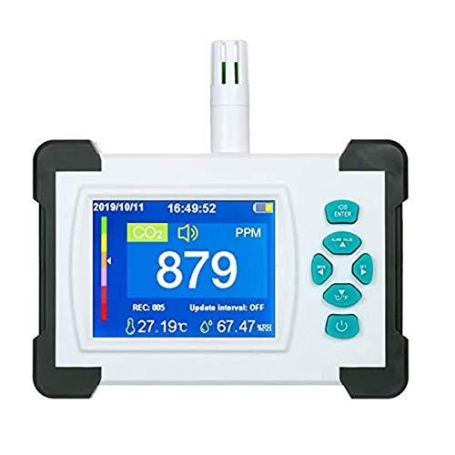 LILIS Carbon Monoxide Meter Kohlendioxid-Detektor mit wiederaufladbarer Batterie-tragbarer CO2-Meter-Tester, 3,2-Zoll-TFT-Full-Farbdisplay-Kohlendioxid-Detektor Luftqualitätsdetektor