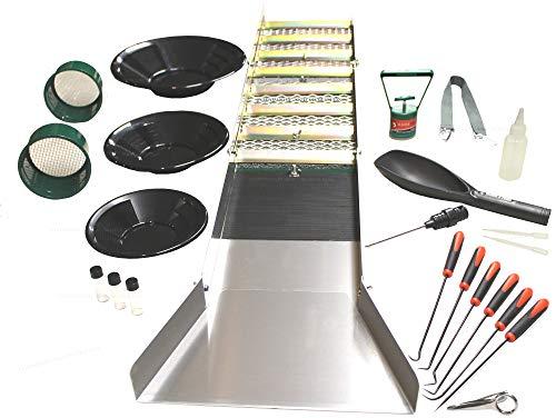 Sluice Fox 22 Piece Gold Mining Kit | Folding Aluminum Sluice Box | Gold Panning