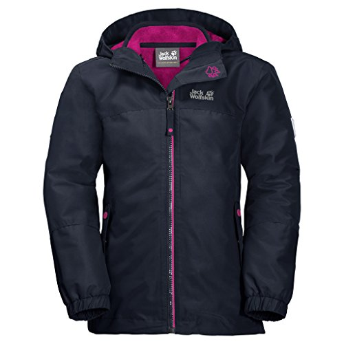 Jack Wolfskin Unisex Kinder 3in1-jacke, midnight blau, 140