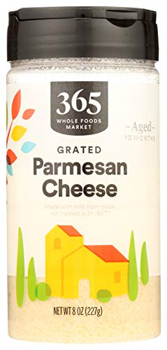 365 by Whole Foods Market, Shelf-Stable Parmesan Cheese - Grated, 8 Ounce