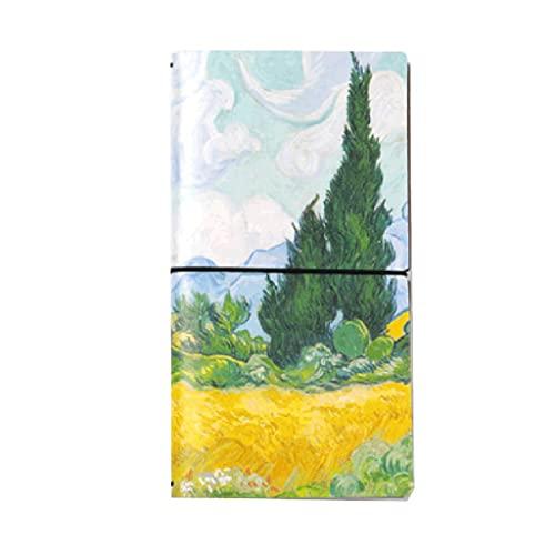 WPBOY Pintura al óleo Cuaderno Diario Creativo Moda Simple Personalidad portátil Multifunción Portátil Flojo-Hoja Flojo Grupo de libreta Regalo (Color : D)