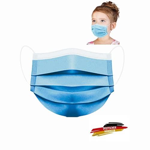 MASSIMO 007 50 Stück Medizinischer Mundschutz für Kinder Medizinische Kindermaske EN14683 Type IIR, BFE ≥ 99% Einwegmasken Kinder OP Masken