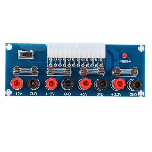 Placa Adaptadora, XH-M229 Indicador de Alimentación de Puerto ATX de 24 Pines + Interruptor de Alimentación para Sistemas Integrados de Proyectos Informáticos