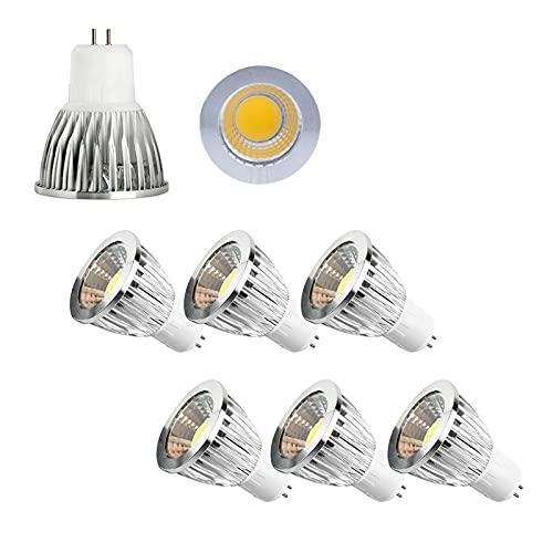 JYKFJ Gu5.3 Lampadina Spot dimmerabile a LED, 12w Ac110v / 220v Guscio in Alluminio a Tazza LED, Base bi-Pin, Perfetta per l'illuminazione di binari e casa, Confezione da 6