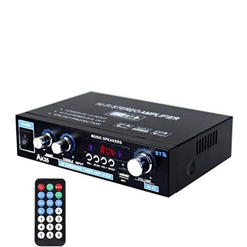 Peaches Stores 110V / 220V 400W Drahtloser Bluetooth-Verstärker Mini 2.0-Kanal digitaler Verstärker Bluetooth 5.0 Empfänger USB-Musik-Player Stereo-Haus/Auto