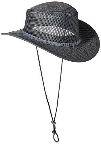 Stetson Men's Mesh Covered Hat, Charcoal, Medium