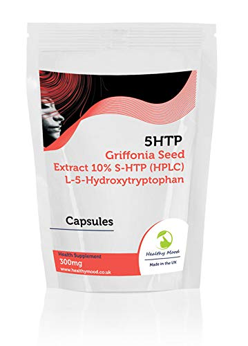 Griffonia Seed Extract 10% 5-HTP (HPLC) L-5-Hydroxytryptophan 10.0% 300mg Capsules- Pack of 90 Pills Pills