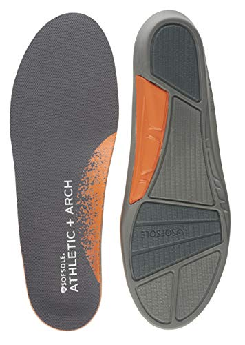 Sof Sole Women's Athletic High Arch Performance Full-Length Insole, Black, Women's 8-11