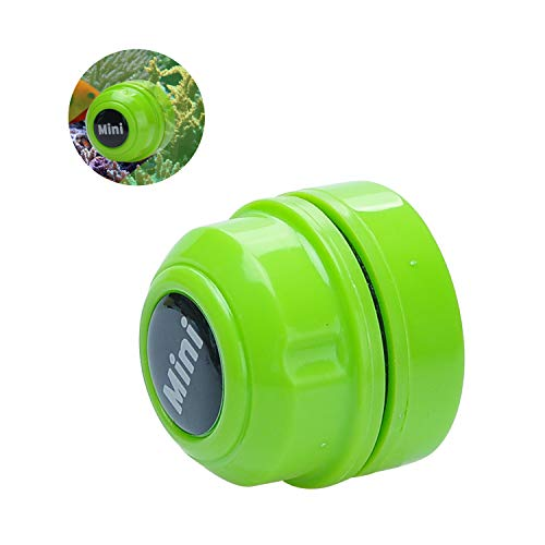 TOWEAR Mini imán cepillo de pecera, limpiador de acuario, limpiador de cristal de pecera, mini imán portátil duradero, limpieza para la extracción de peceras y algas (verde)