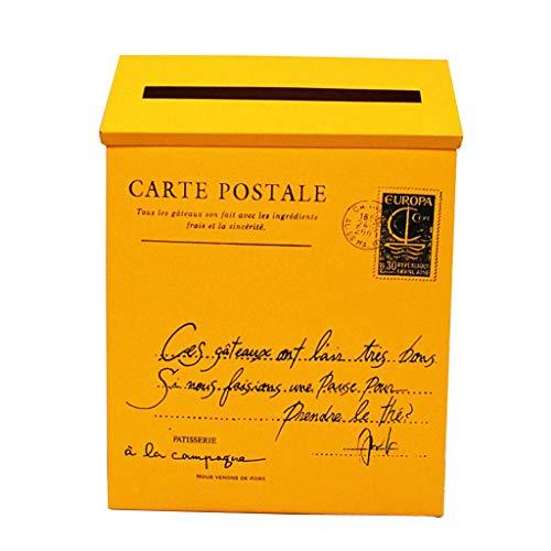 perfeclan Caja de Periódicos Revistas Postales Buzón Exterior Grande Diseño Colgante - Amarillo