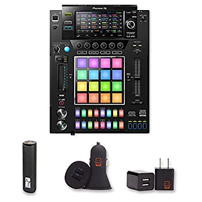 Pioneer DJ DJS-1000 Performance DJ Sampler Bundle with PowerBank + USB Car Charger + USB Wall Charger (4 Items) from E Zee Electronics