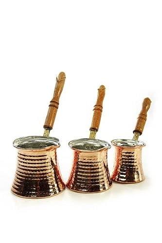 Copper Garden Mokkakanne aus Kupfer I Ibrik aus lebensmittelecht verzinntem Kupfer mit Holzgriff I Mittelgroße Kupferkanne zum Milchaufwärmen (für Kaffee) oder zum echten Mokka Kochen - 8