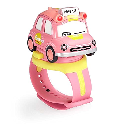 N\C Kinder-Armbanduhr, Cartoon-Motiv, abnehmbare Legierung, Auto-Modell, Kinderspielzeug, zufällige Farbauswahl.