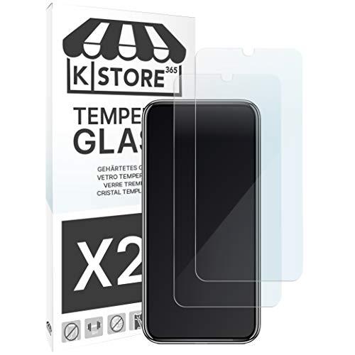 KSTORE365 [2 Piezas] Cristal Templado para Xiaomi MI9 Protector De Pantalla Vidrio Templado con [Adhesivo En Todo El Cristal] [9H Dureza] [2.5D Borde Redondeado] para Xiaomi MI 9