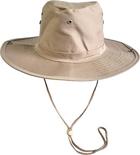 normani Australischer Buschhut/Wanderhut - Atmungsaktiv perfekt geeignet zum Campen und Wandern Farbe Khaki Größe 57