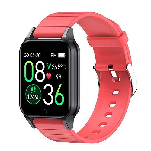 Gymqian el Reloj de Manera Inteligente T96, Ip67 a Prueba de Agua de Medición de Temperatura Corporal de Smart Watch, con Control de Las Pulsaciones Rastreador de Ejercicios Reloj D