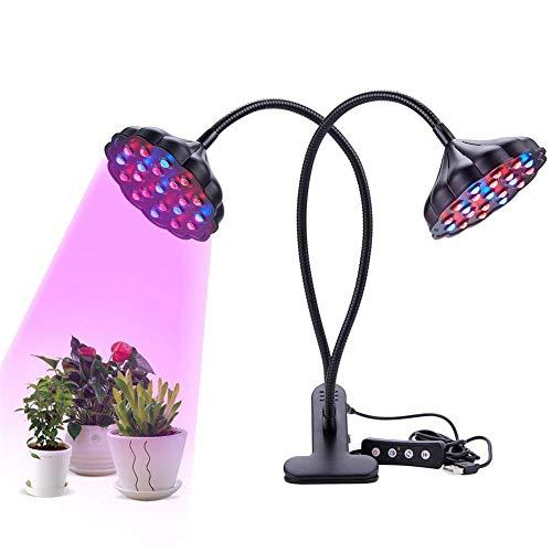 Pflanzenlicht Grow Light Vollspektrum pflanzenlampe 45W zwei Ende Clip Vollspektrum LED Pflanzenwachstum Licht für Gemüse Blumensaat Liste Gewächshaus Pflanzenbeleuchtung