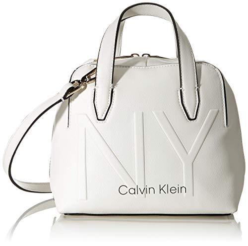 Calvin Klein Shaped Sml Duffle - Borse a tracolla Donna, Bianco...